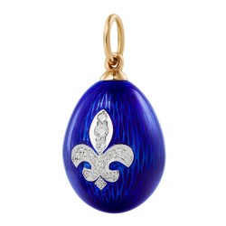 Eggpendant with a lily
