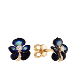 Diamond earrings - forget-me-nots